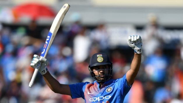 Rohit Sharma got his third T20I ton in just 56 balls © Getty Images