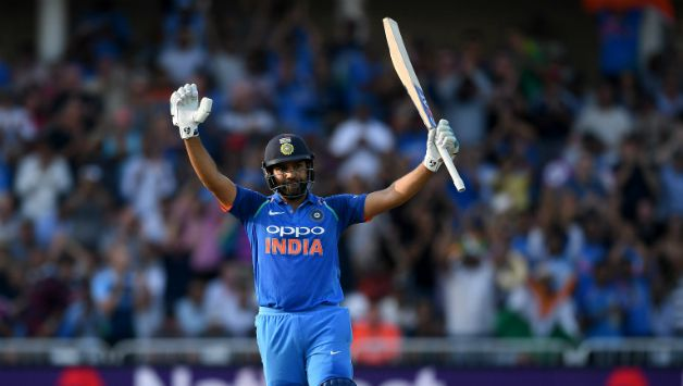 Rohit Sharma recorded his 18th ODI century © Getty Images