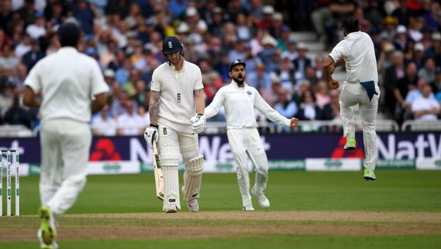 Mohaamed Shami then rmoved Ben Stokes to leave England tottering at 108/5