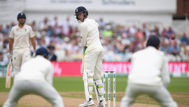 It took Ishant Sharma just five balls to extract Keaton Jennings, who was forced to play at a good delivery that he edged to Pant.