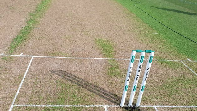 The Trent Bridge pitch this morning © BCCI Twitter handle