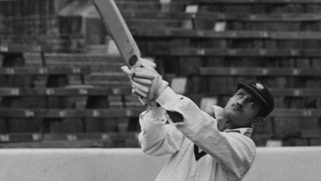 Ajit Wadekar practicing at The Oval during India's famous 1971 tour to England © Getty Images