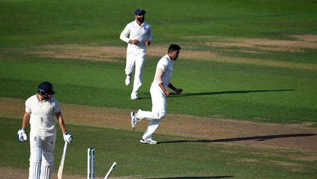 Out walked Bairstow, with a fractured finger, and Bumrah deceived him with a ripper first ball