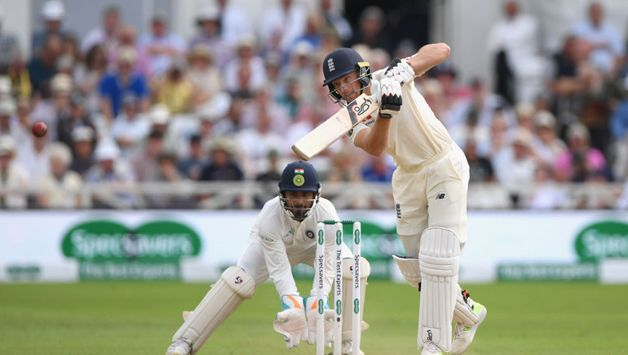 Buttler brought up his third fifty in eight innings since making a comeback to the Test team in June with a lovely drive for four off Bumrah.