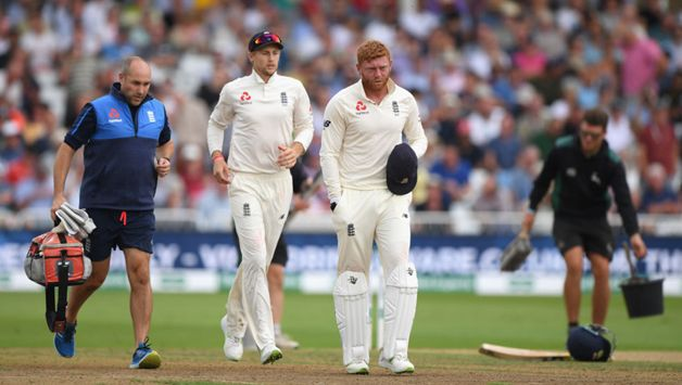 Jonny Bairstow was sent to a Nottingham hospital after being struck on his left middle finger during the third morning's play against India at Trent Bridge. X-rays confirmed a hairline fracture