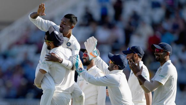 Hardik Pandya, in the fifth over of a miserly spell, ended Stokes' rearguard to have him caught by KL Rahul at second slip, who held his sixth catch of the Test.