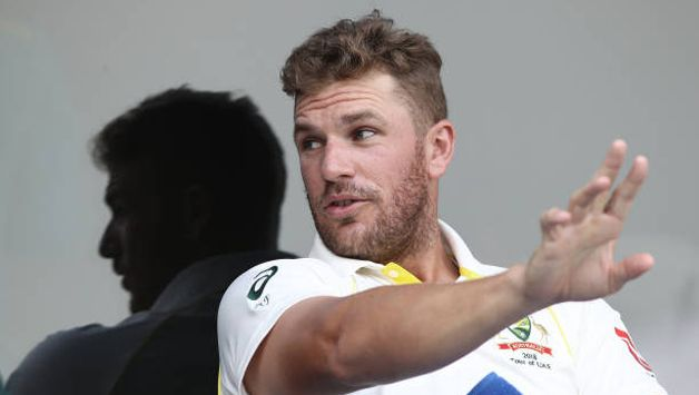 Aaron Finch opened in his debut Test series in the UAE.