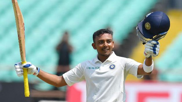 Prithvi Shaw was voted Man of the Series in his debut Test series