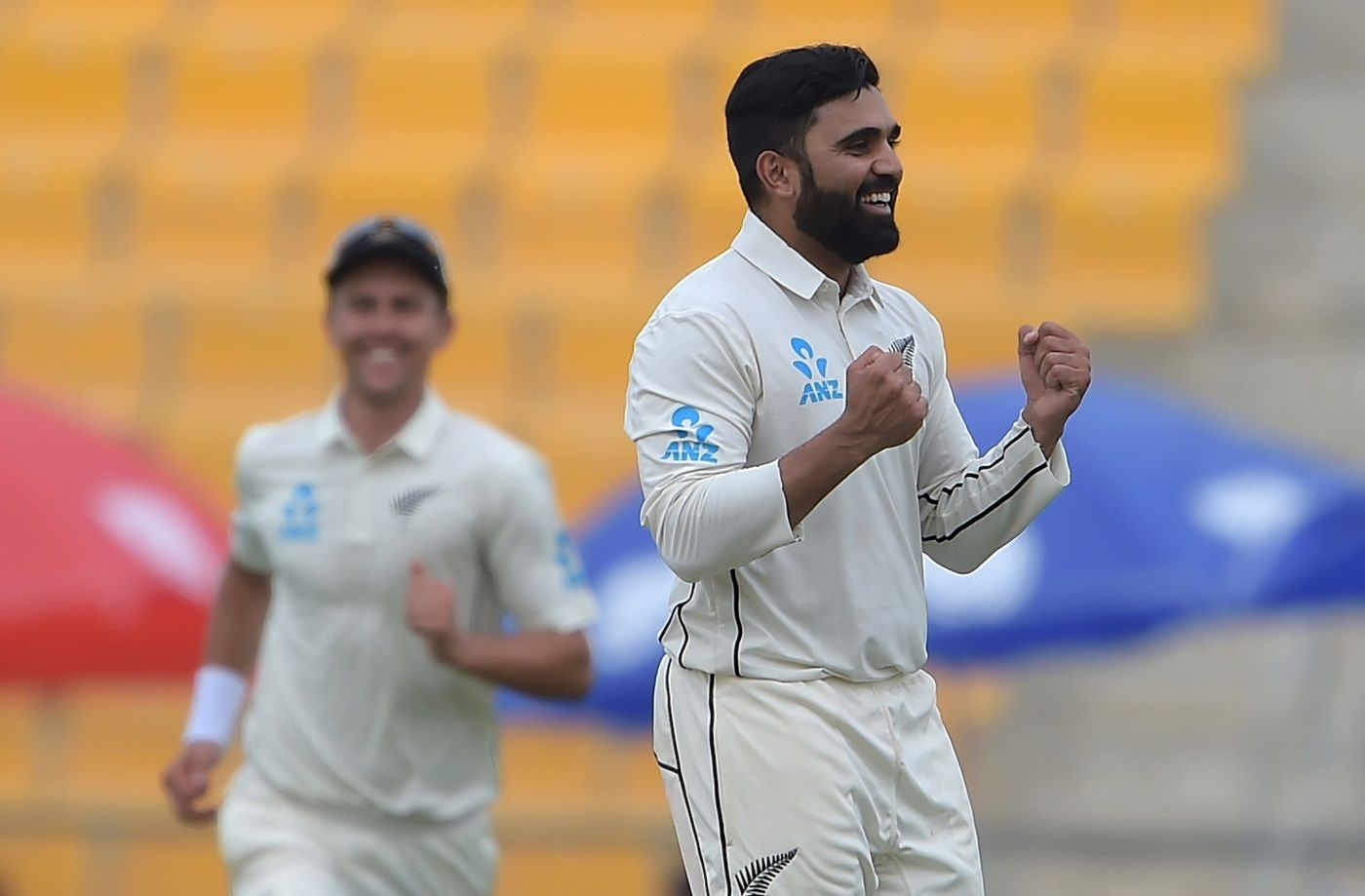 Ajaz Patel crippled Pakistan with four wickets after tea.
