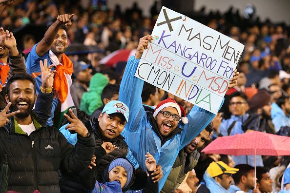 "Chants of ""India, India, India!"" ring loud and each time an India player hits a boundary."