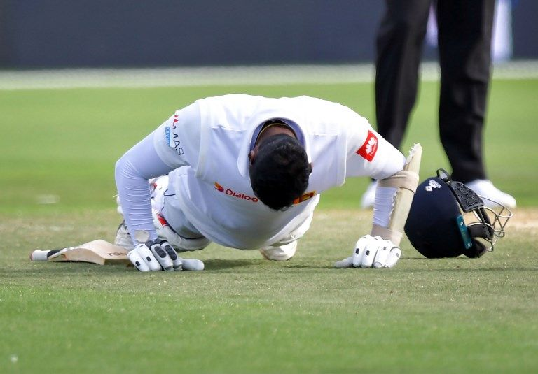 Angelo Mathews secured his ninth Test century and promptly did 10 push-ups.