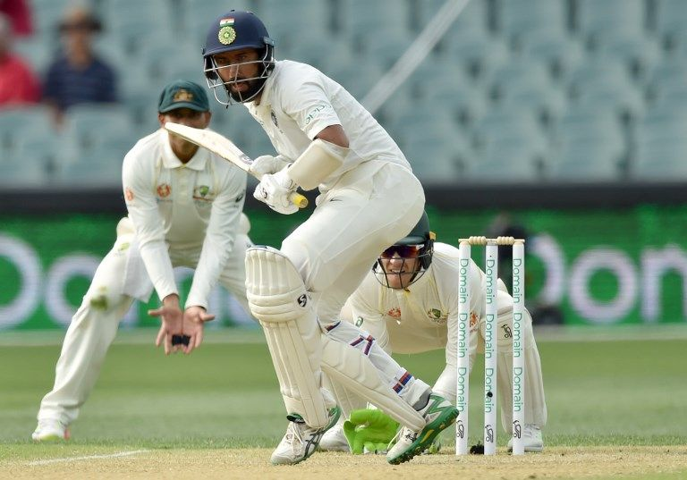 On your toes: Cheteshwar Pujara carried India to a dominant position on day three