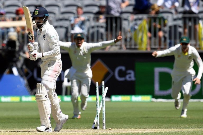KL Rahul was bowled twice in the Perth Test, making it seven out 11 innings.