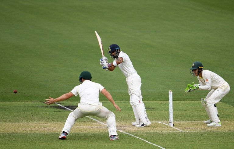 With Kohli, the difference is in where he stands – wide outside the creas