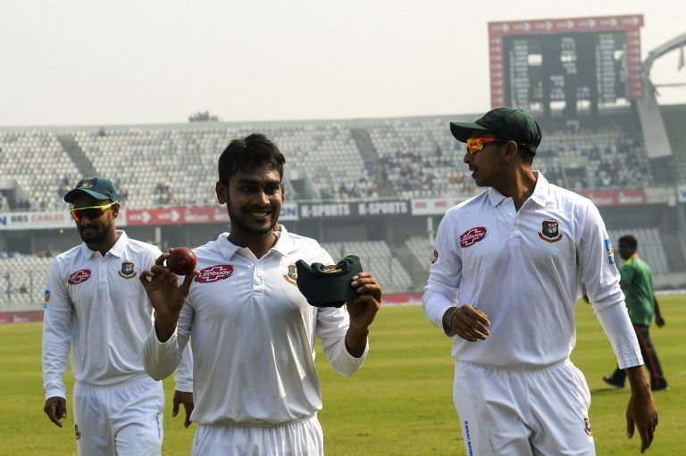Mehidy Hasan Miraz achieved record figures in Bangladesh's biggest Test win