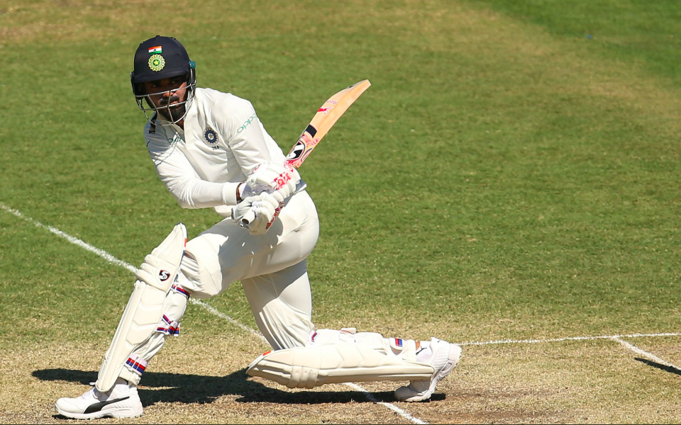 After a watchful start, KL Rahul opened up to drive India's lead.