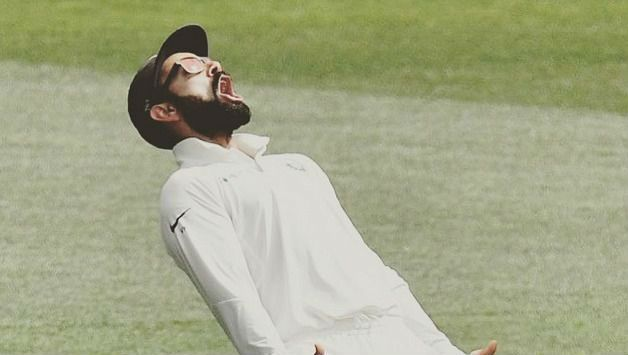 Virat Kohli lets his emotions out after India win at Adelaide Oval.