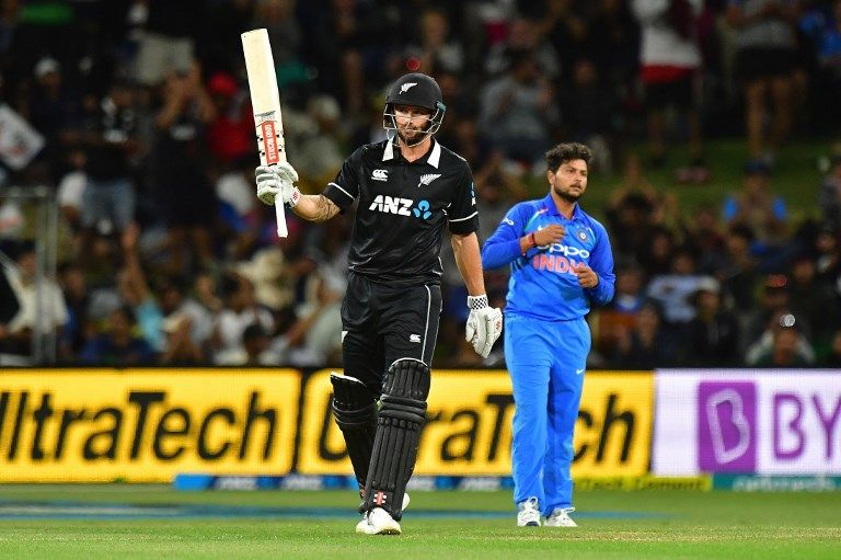 Doug Bracewell's maiden ODI fifty stalled India for some time.