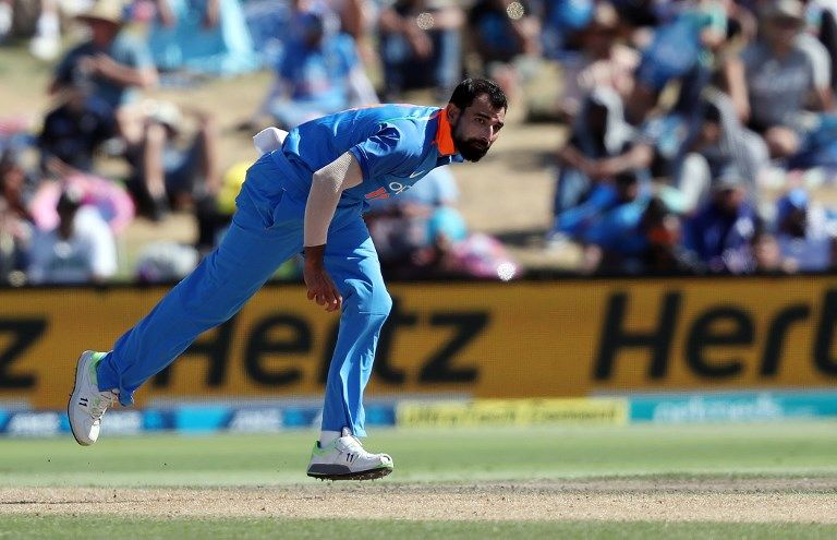 Mohammed Shami the series' leading wicket-taker.