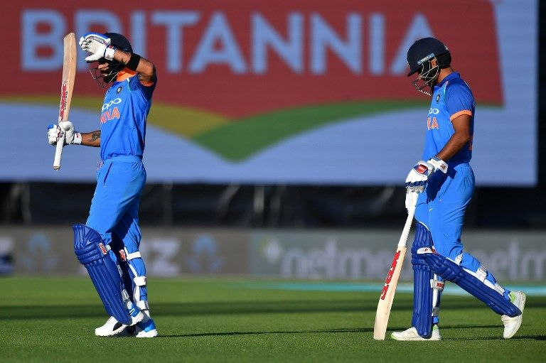Shikhar Dhawan's vision was obstructed by sunlight at McLean Park.