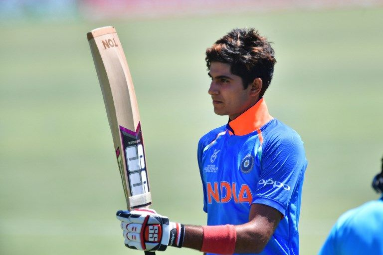 Shubman Gill was Player of the Tournament at the 2018 U-19 World Cup.