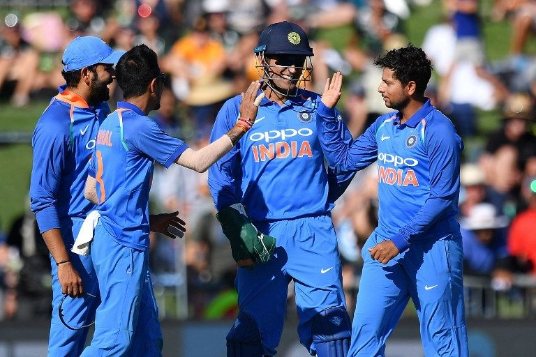 Wristy business: Chahal and Kuldeep claimed 6/82 in 20 overs.