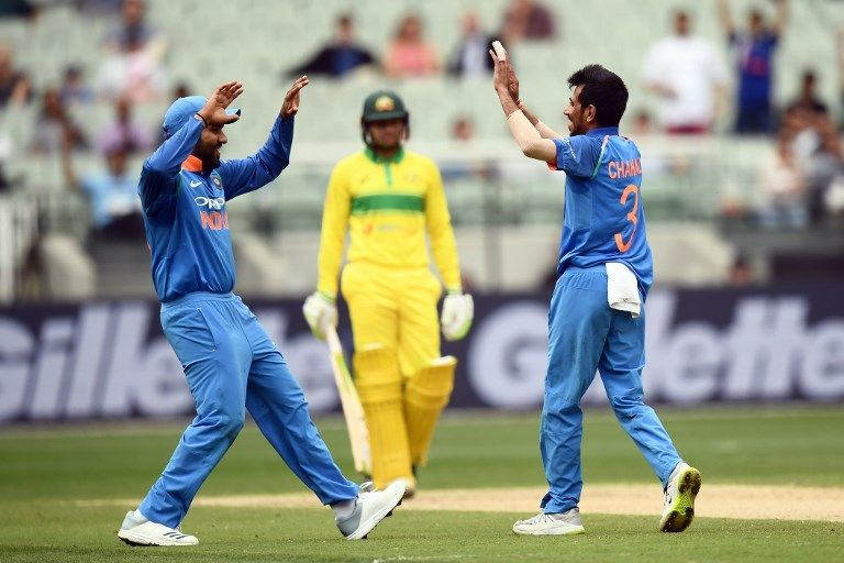 Yuzvendra Chahal made a splash in his first game of the series.