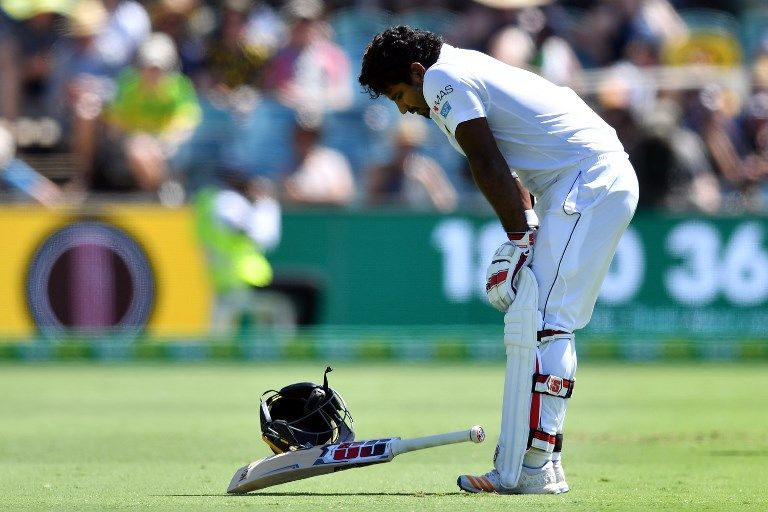 Kusal Perera had to retire hurt after a bouncer blow.