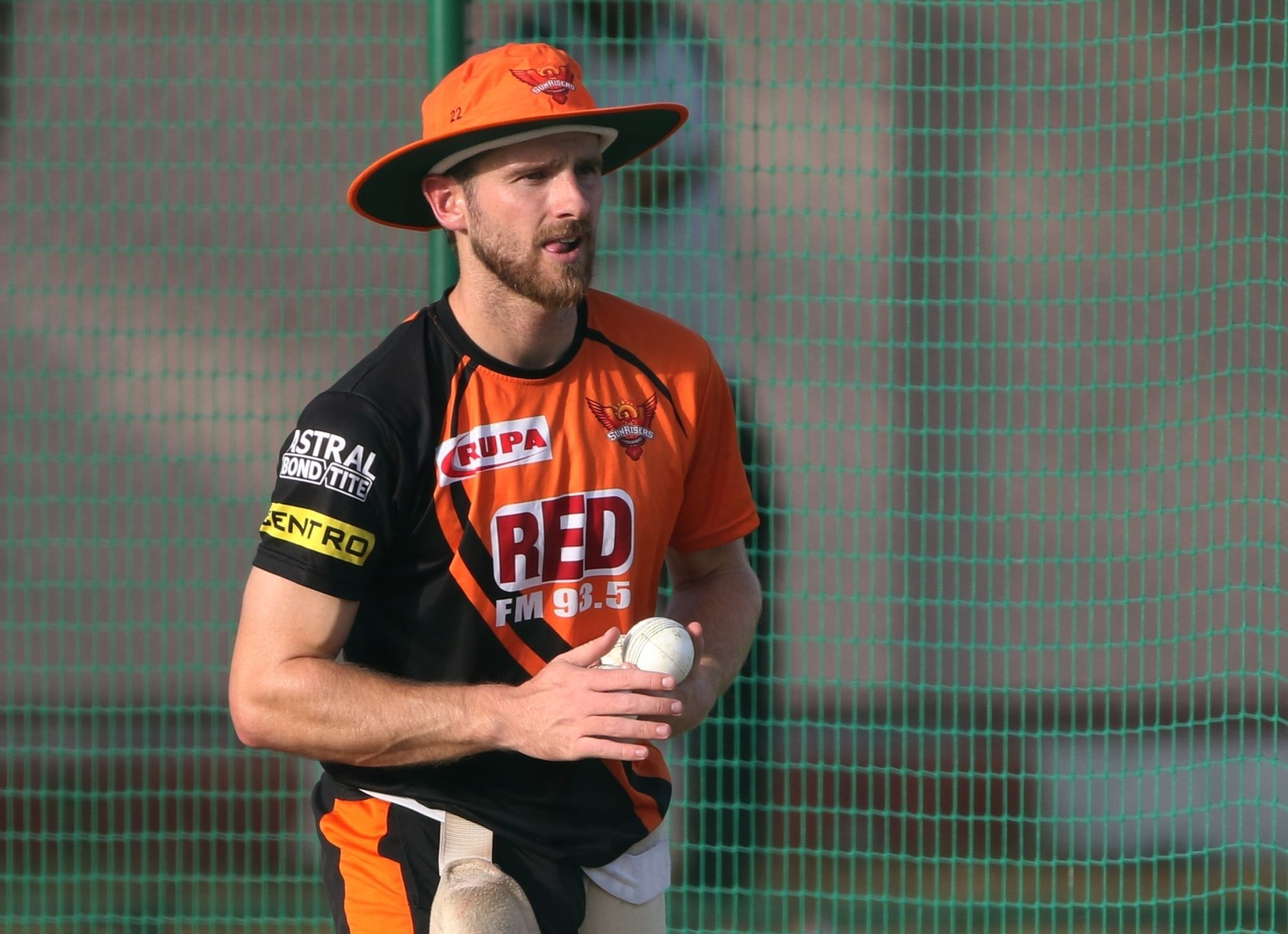 Kane Williamson trained with SRH on Thursday in Hyderabad
