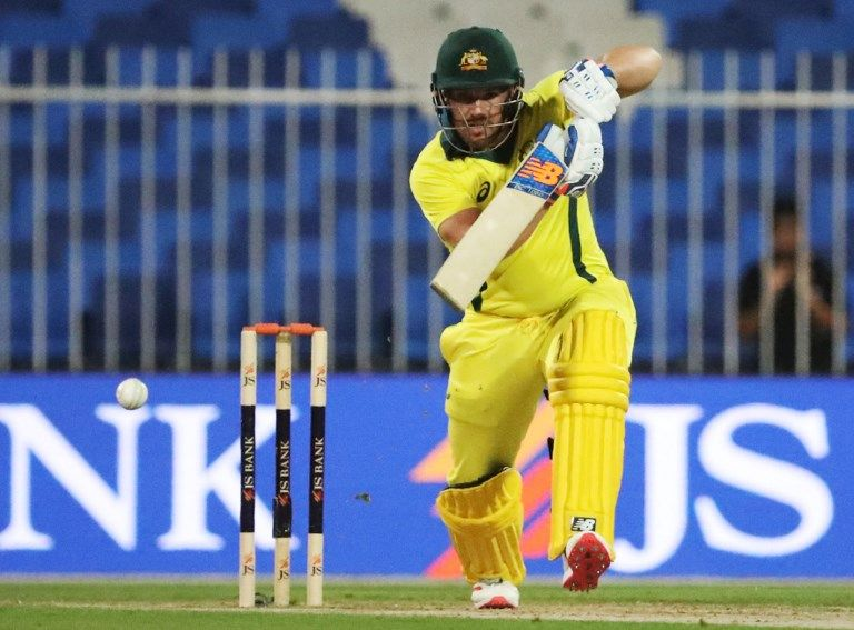 Aaron Finch missed a record hat-trick of hundreds in Australia's win.