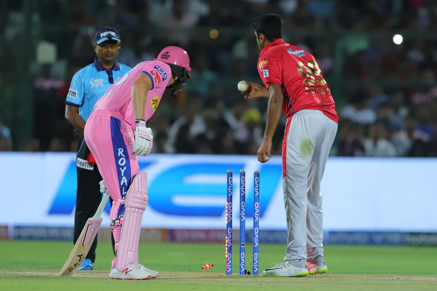 R Ashwin's controversial dismissal of Jos Buttler has split opinions.