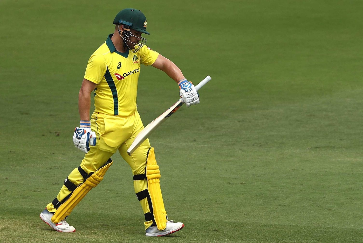 Aaron Finch was dismissed for a duck in his 100th ODI.