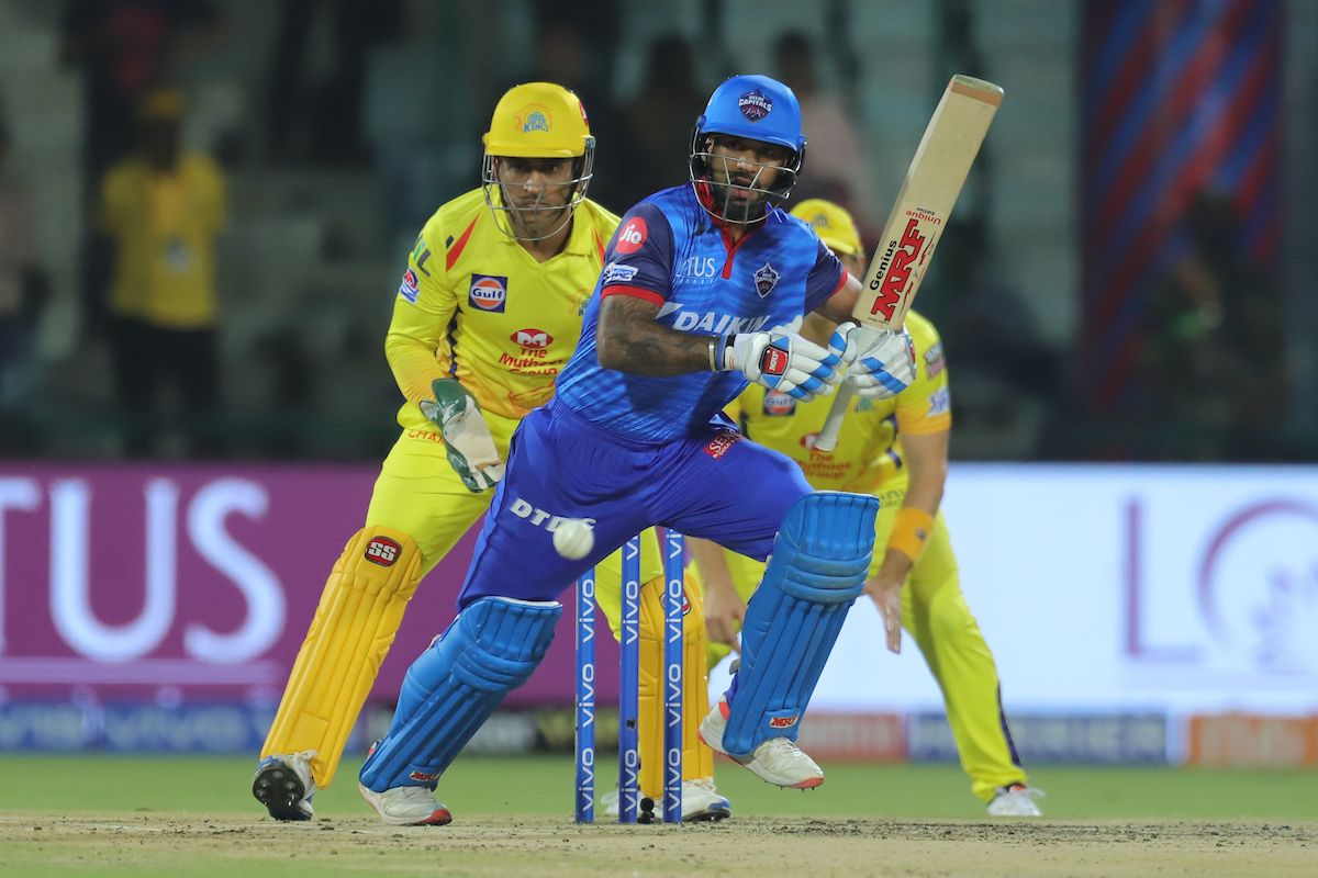 Shikhar Dhawan made 51 off 47 balls and was dismissed in the 18th over.