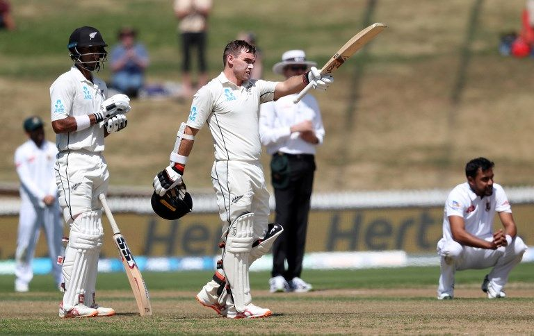 Tom Latham followed Jeet Raval to a Test hundred as New Zealand cruised.