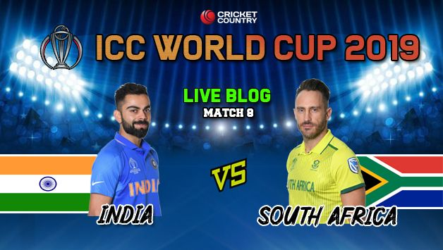 Live Cricket Score And Updates Ind Vs Sa Cricket World Cup 2019 Match 8 Live Streaming Live Score Updates Live Blog And Ball By Ball Commentary India Vs South Africa Match 8