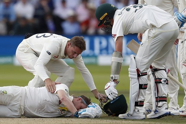Ashes 2019 Lord S Test Day 4 Steve Smith Suffers Sickening Blow To Head From Jofra Archer Bouncer Cricket Country