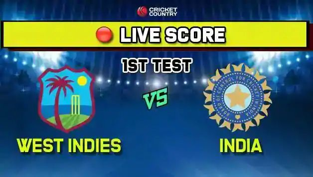 India vs West Indies live cricket score and ball by ball commentary, IND vs WI, 1st Test, Day 4, live score at Antigua: Kohli falls early but India's lead moves past 300-run mark