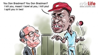 How the great Don Bradman responded to  Patrick Patterson's sledging!