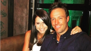 """Photo: AB de Villiers and wife Danielle enjoy """"a fun evening"""" at Mohali"""