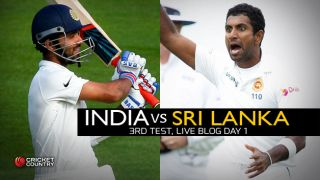 IND 50/2 | Live Cricket Score, India vs Sri Lanka 2015, 3rd Test in Colombo, Day 1, STUMPS: Rain forces play to be called off after India lose Rahul, Rahane
