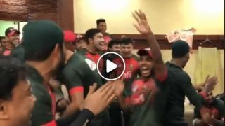 Watch BAN men's team celebrate women's victory against IND