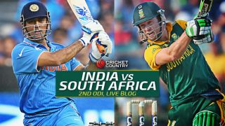 SA 225, Overs 43.4 (Target 248)   Live Cricket Score India vs South Africa 2015, 2nd ODI at Indore: India win by 22 runs