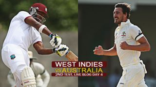 Live Cricket Score WI vs Aus 2nd Test, WI 110/7 in 38 overs: AUS 3 wickets away from win