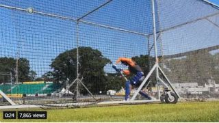 Watch India players hit the nets before 2nd T20I