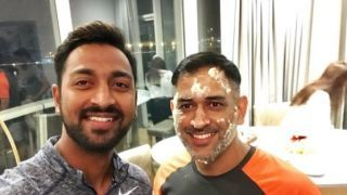 Watch team India celebrate Dhoni's birthday in the dressing room