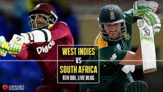 WI 204 all out in 38 overs, Live Cricket Score, WI vs SA, Match 5, Tri-Nation Series 2016