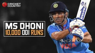MS Dhoni becomes 4th Indian batsman to complete 10,000 runs in ODI