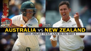 AUS 54/2   Live Cricket Score Australia vs New Zealand 2015, 3rd Test at Adelaide, Day 1: AUS trail by 148 runs at stumps