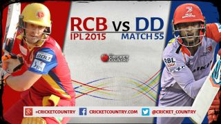Live Cricket Score RCB vs DD IPL 2015, Match 55, RCB 2/0 in 1.1 overs: Rain washes match off