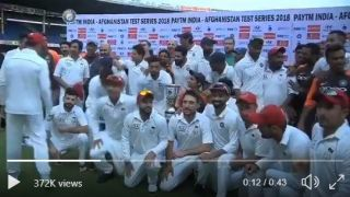 Watch Rahane invite AFG players for group photograph